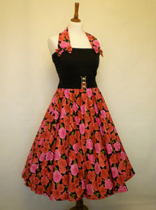 Peggy Circle Skirt- Large Pink Roses