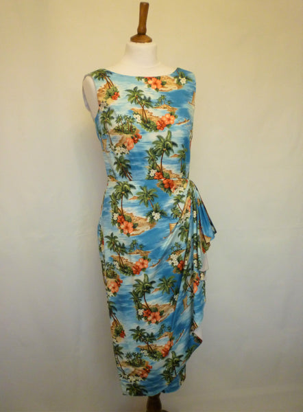 Mavis Dress- Blue Hawaii