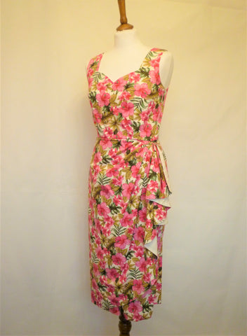 Mavis Dress- Pink Hibiscus