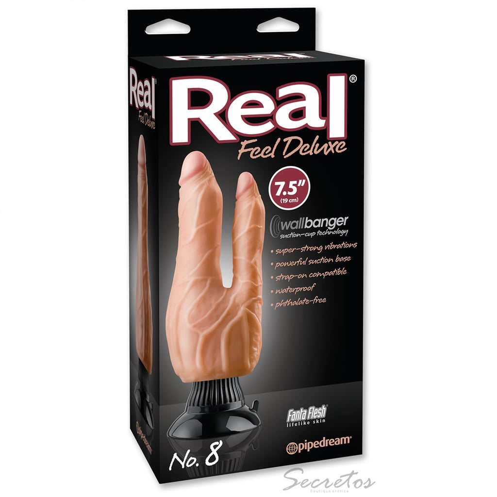 Vibrador real feel deluxe doble penetracion material suave