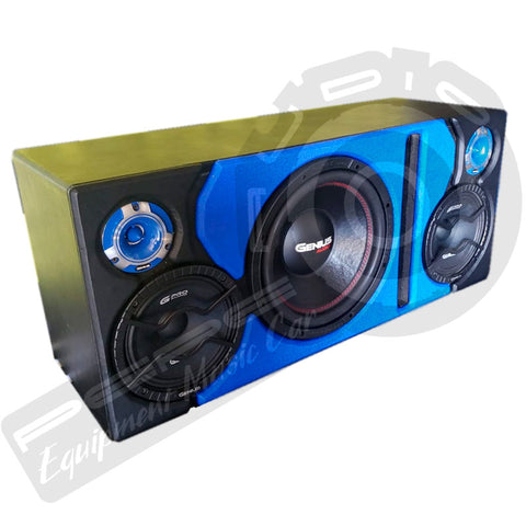 Caja Genius Audio Subwoofer + 2 medios + 2 tweeters