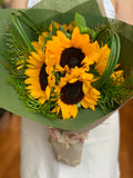 Fresh Yellow Sunflower or Gerbra Care Package