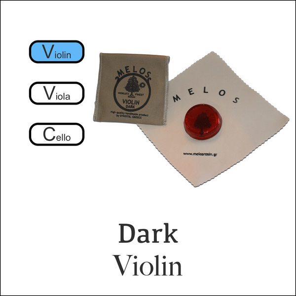 Melos Rosin Violin -Dark