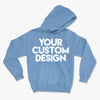Custom Large Hoodie (Gildan 18500 Carolina Blue)