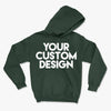 Custom Large Hoodie (Gildan 18500 Forest Green)