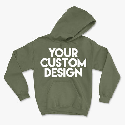 Custom Large Hoodie (Gildan 18500 Military Green)