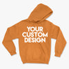 Custom Large Hoodie (Gildan 18500 Safety Orange)
