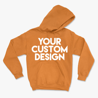 Custom Medium Hoodie (Gildan 18500 Safety Orange)