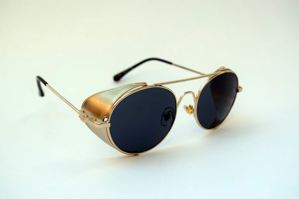 GAFAS STEAMPUNK  METAL ROCK GOLD