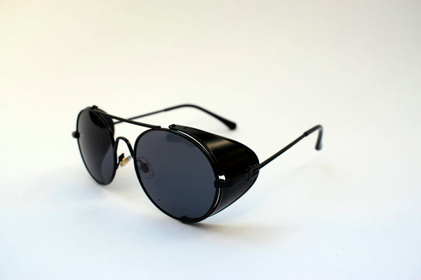 GAFAS STEAMPUNK  METAL ROCK BLACK