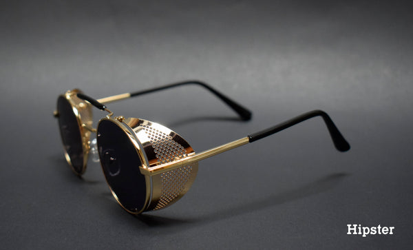 GAFAS STEAMPUNK METAL GOLD