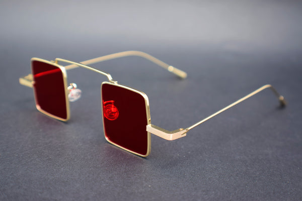 GAFAS CYBERPUNK MINI RETRO RED