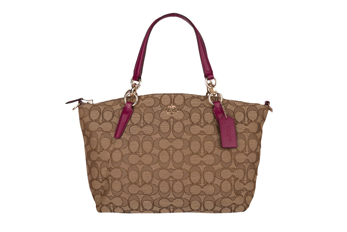 Coach Kelsey Satchel in Signature Jacquard