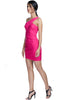Indulge in your feminine side and expose your love for pink in this short, statement fuschia dress.