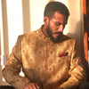 Sherwani With Golden Print