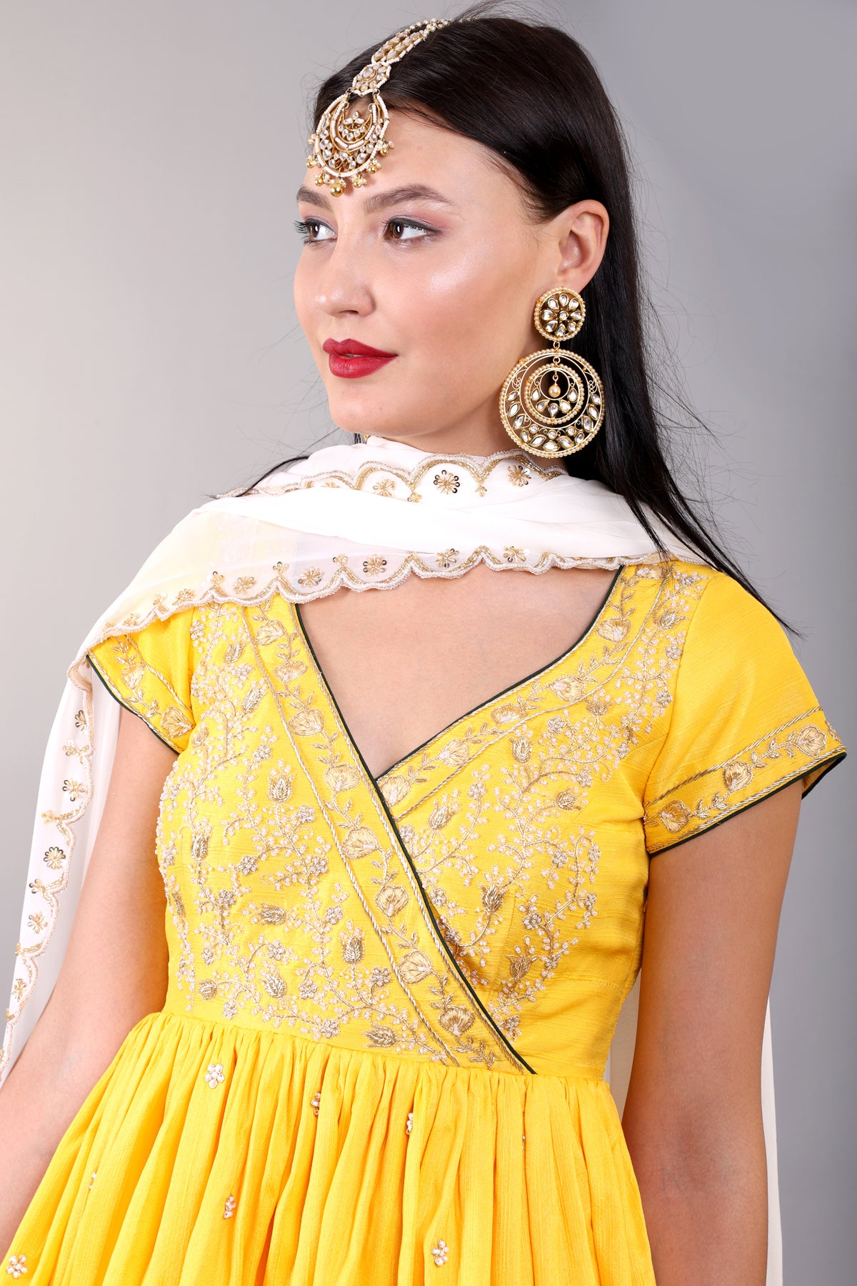 Turmeric Yellow Sharara Set