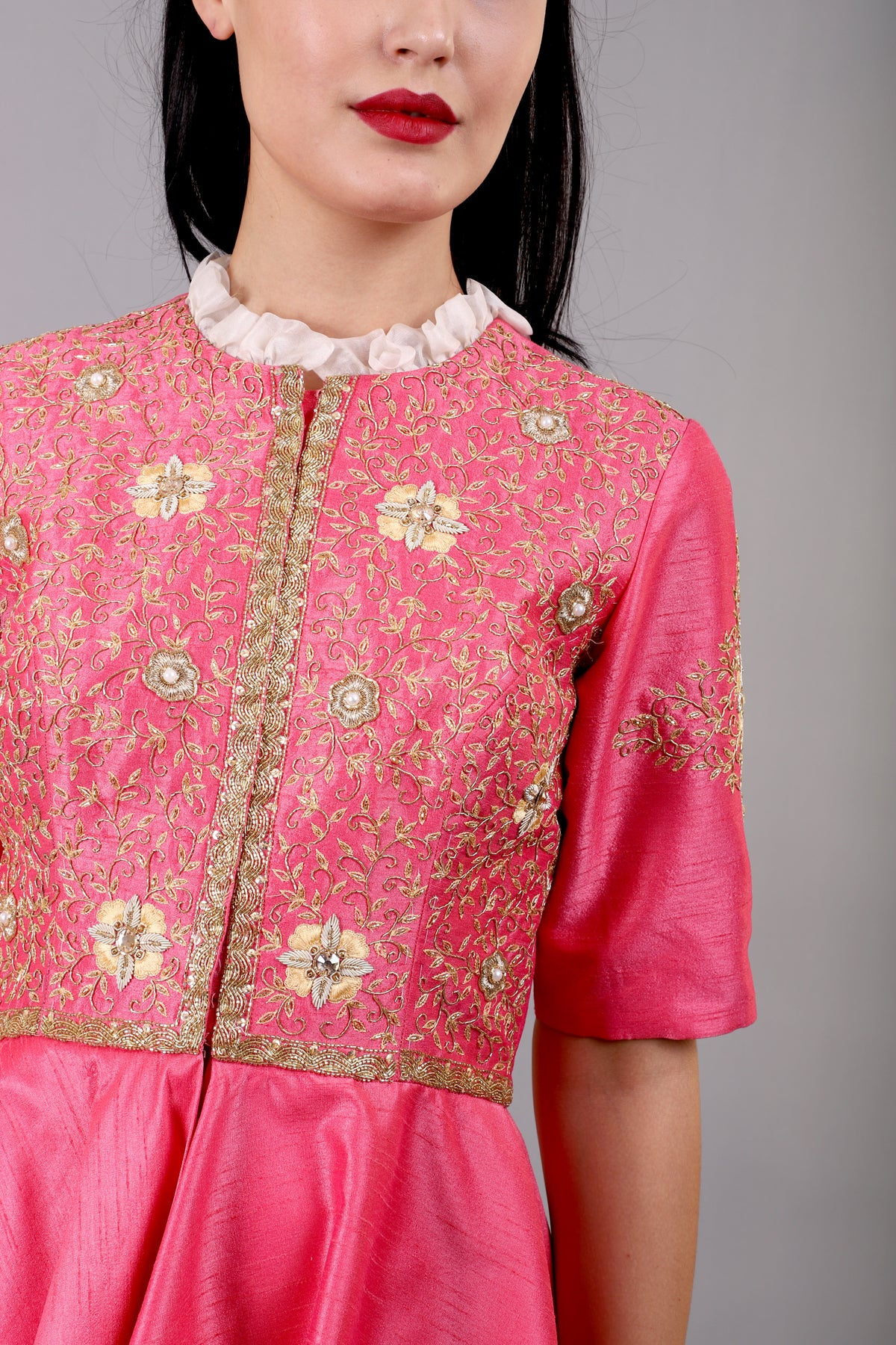 Pink Embroidered jacket