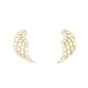 Going Angel wings as earrings? Sure, why not! Handcrafted with mirror and gold plated brass.