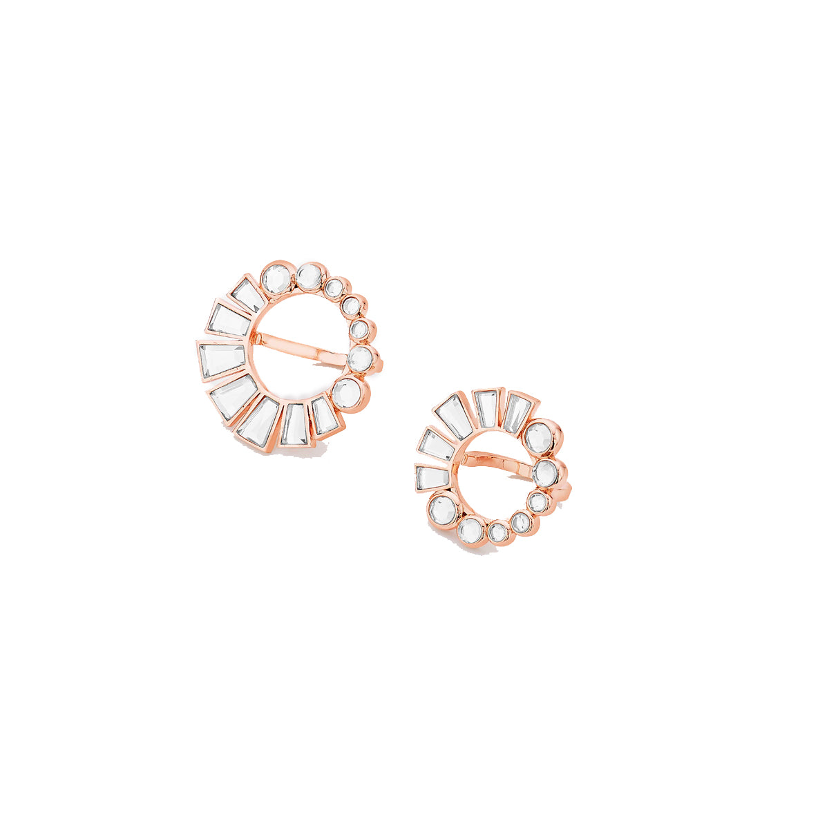 Bombay deco set of two mirror rings set