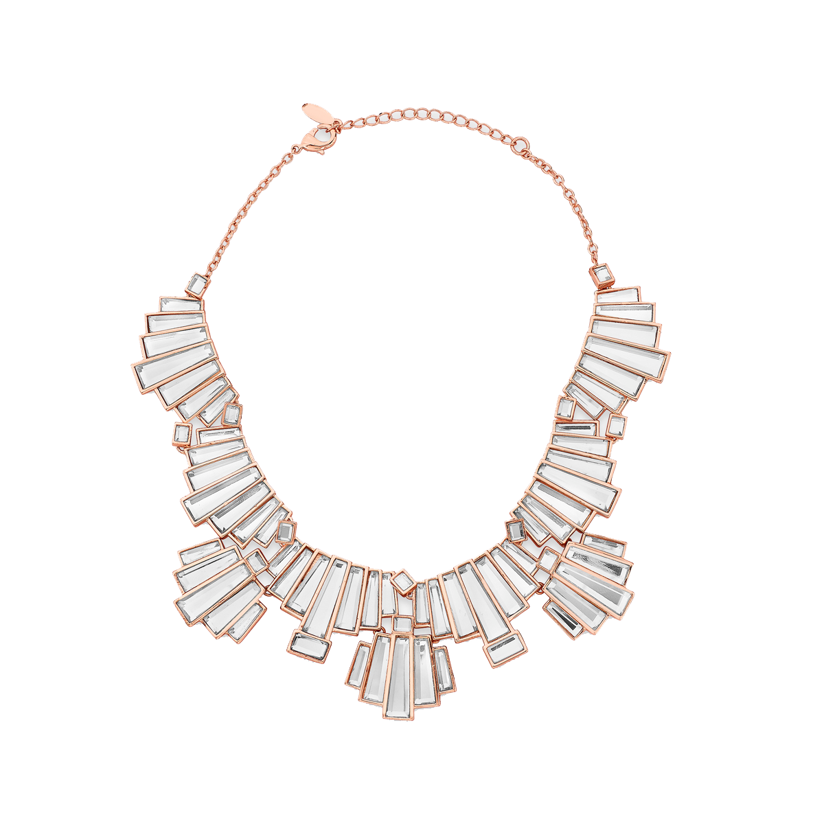 Bombay Deco Statement Mirror Choker Necklace