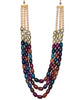 Multicoloured Stone Necklace Set