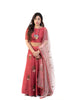 Pink Lehenga Set With Pink Flowers