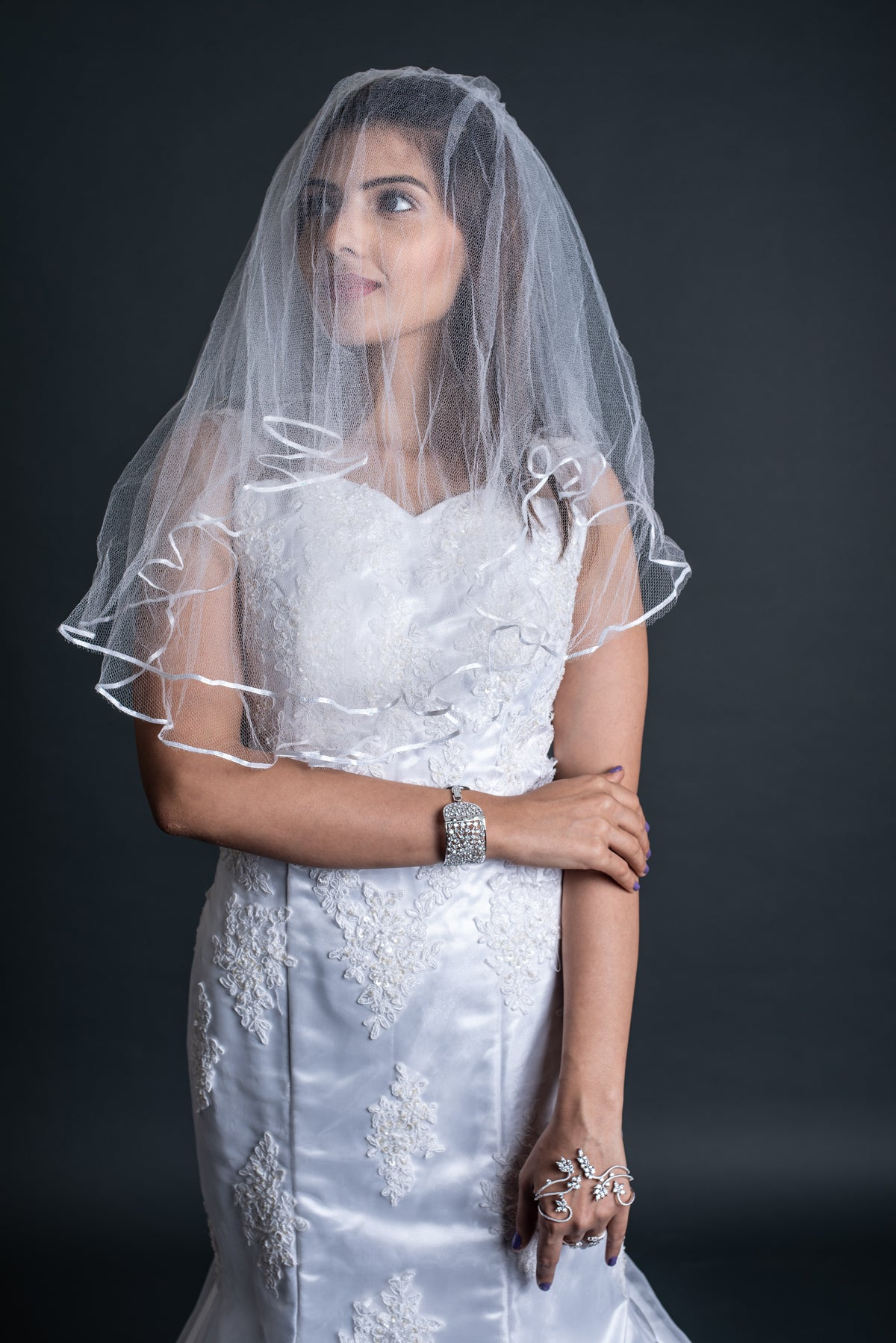 Wedding Gown With Detachable Trail