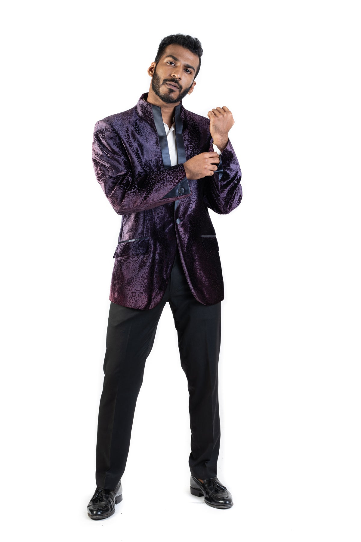 Purple Velvet Jacket