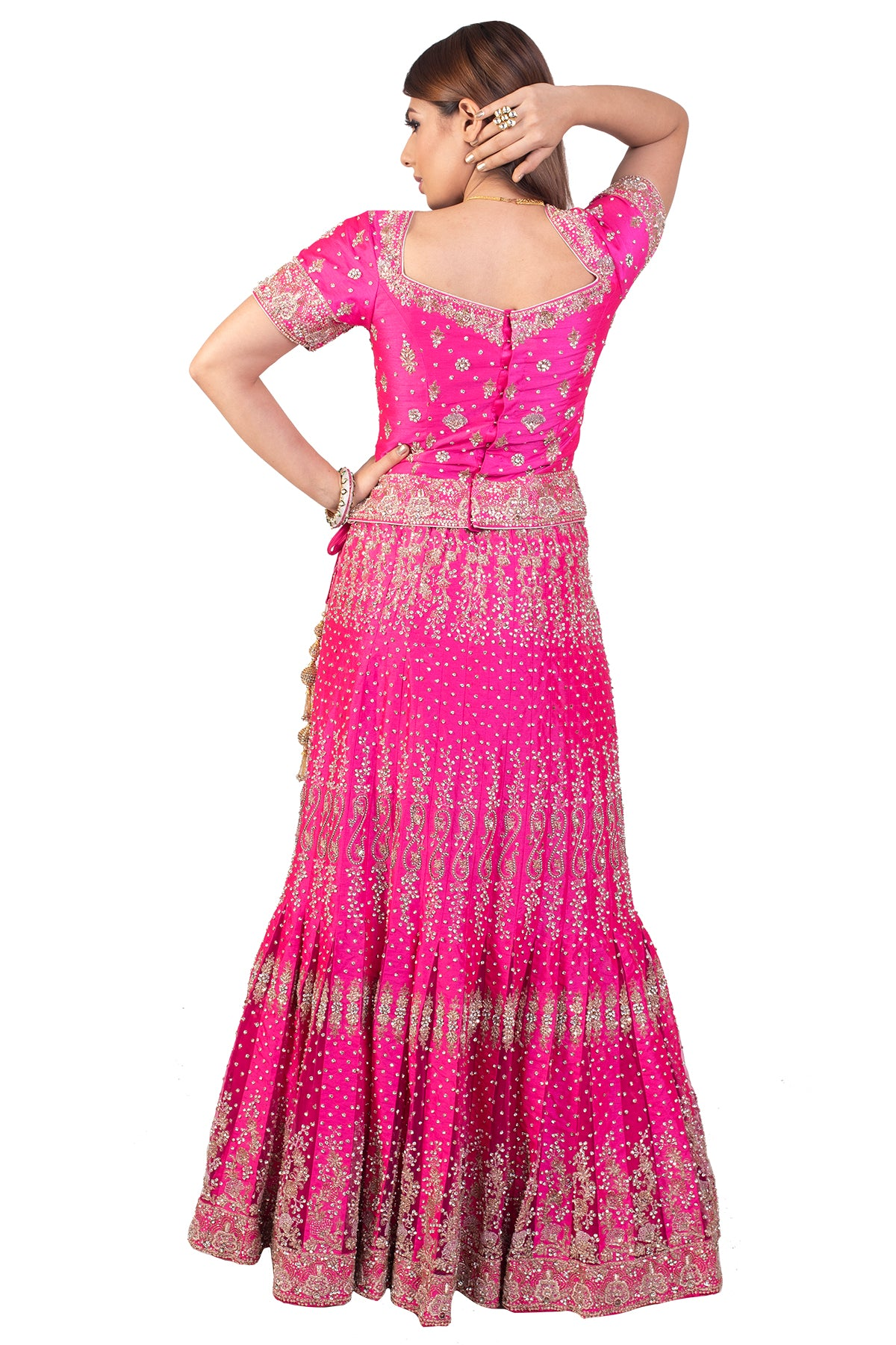 Bright Pink Bridal Lehenga Set