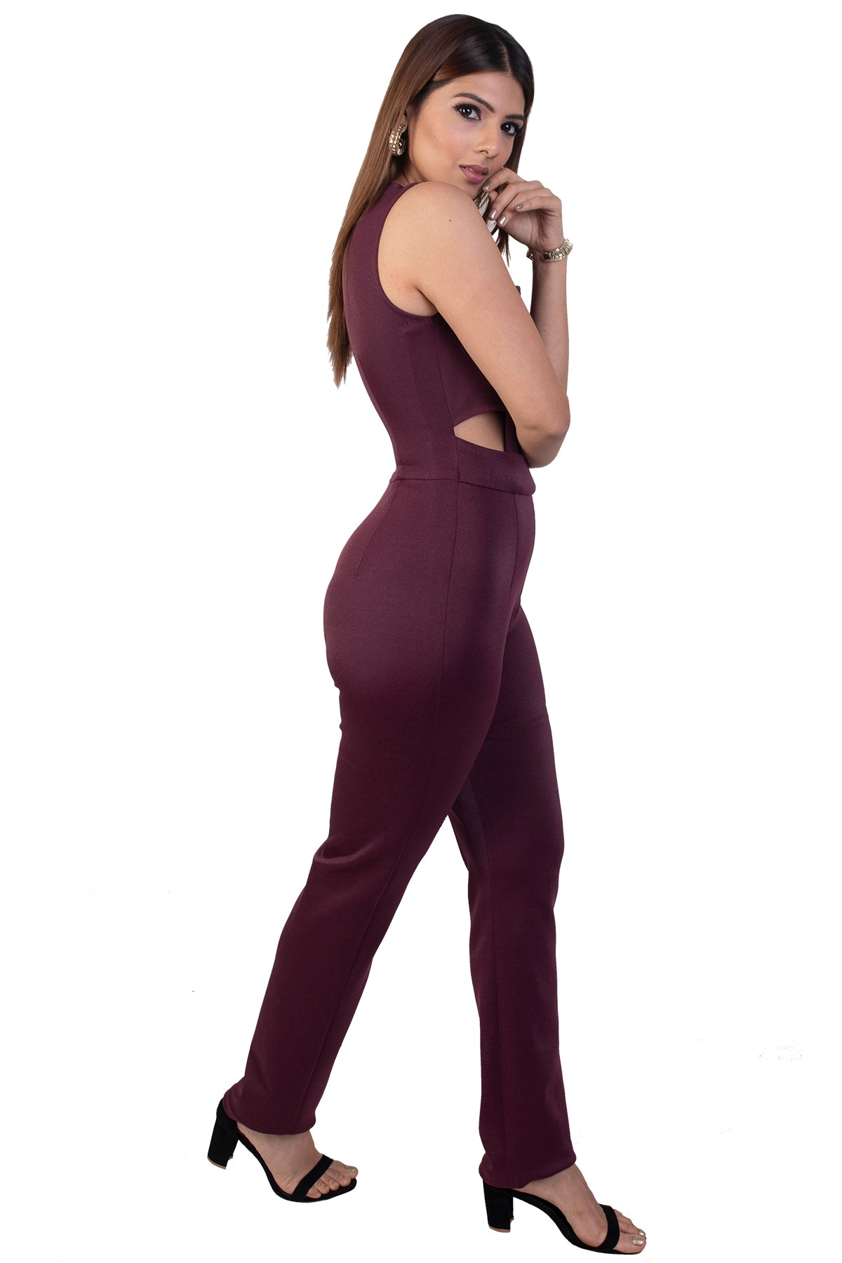 Dark Maroon Jumpsuit