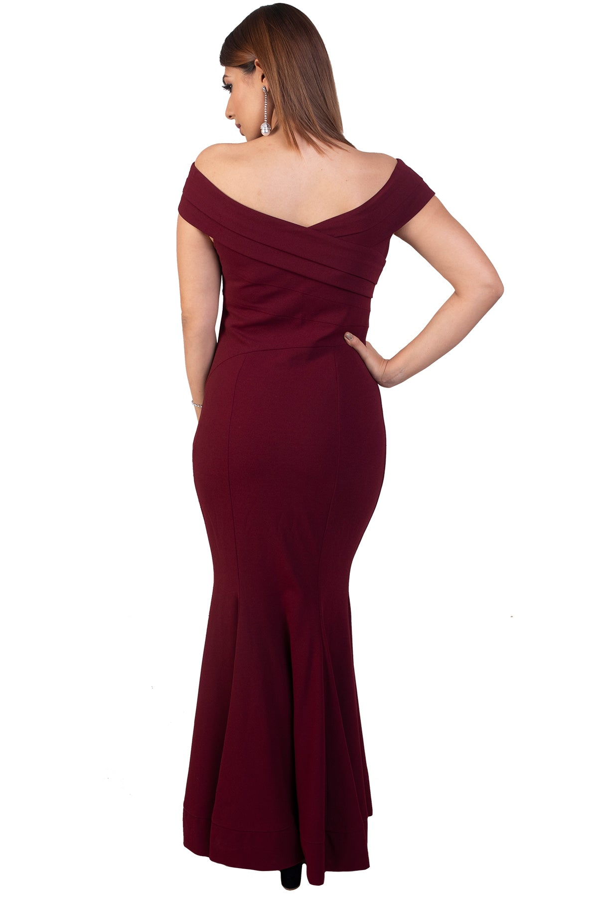 Maroon Bodycon Gown