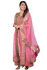 Pink With Gold Anarkali Set