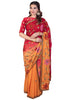 Orange Ombre Saree