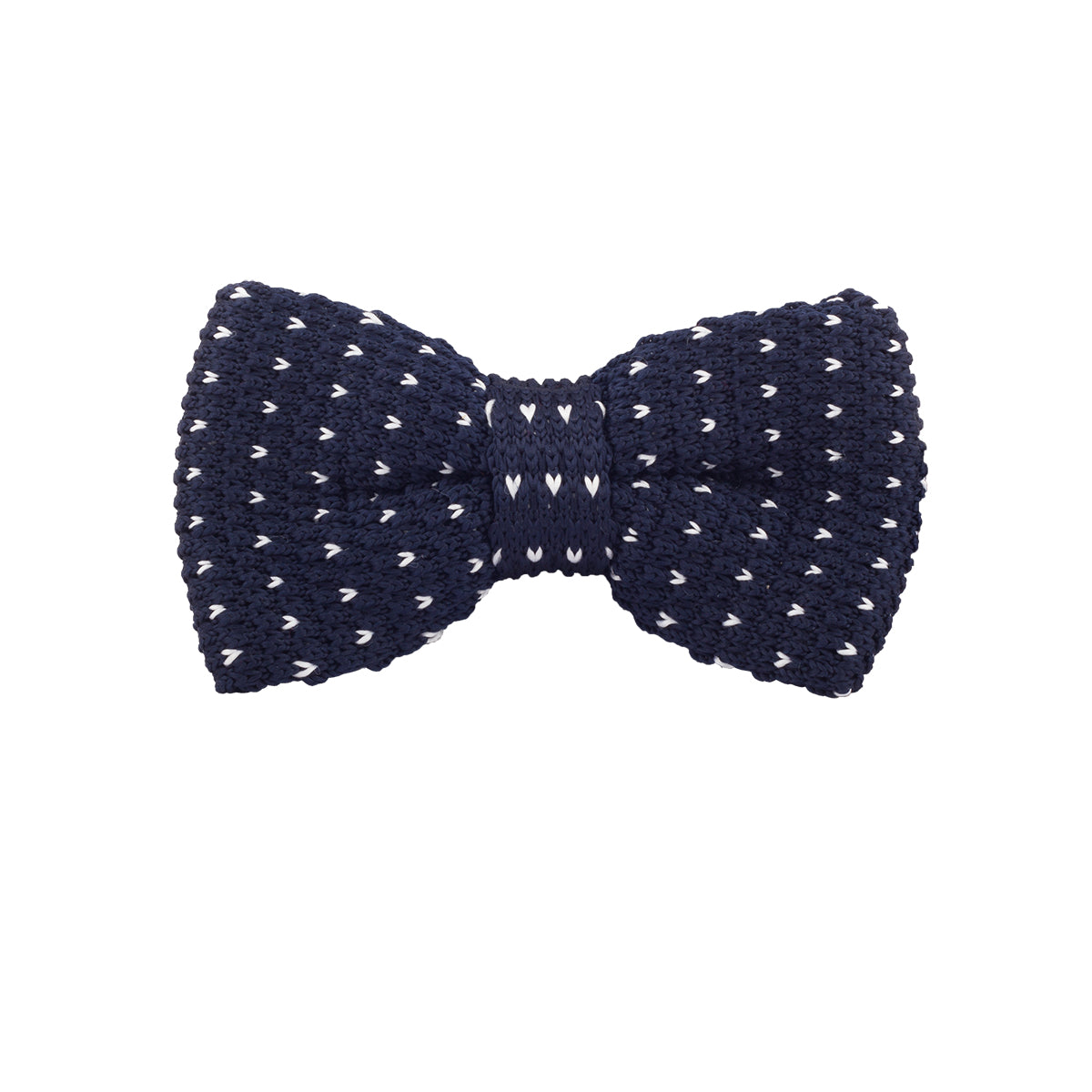 Make the perfect arm candy to your gorgeous girl in this seamless navy blow tie with a splash of scattered cream pattern to add an edge.