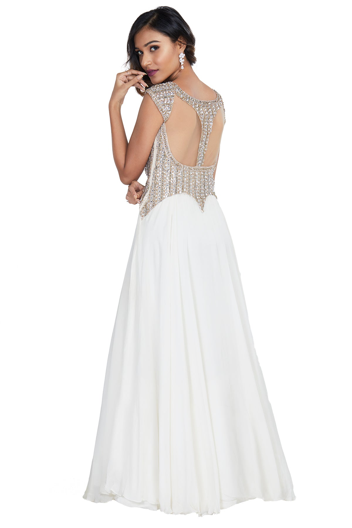 Embellished white gown