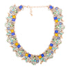 Gorgeous and unique, this necklace comes with multi-colored stones embellished in diamonds.