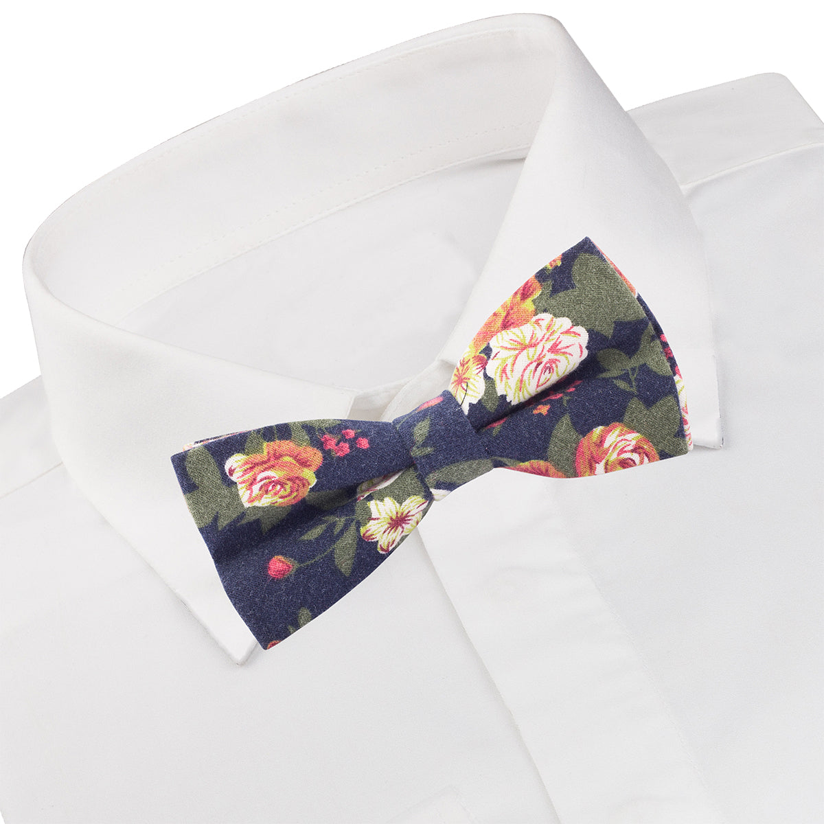 Navy Floral Cocktail Bow Tie