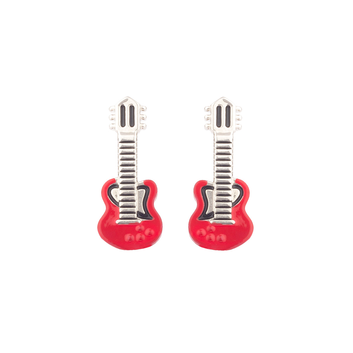 Let your taste of music trickle to your statement fashion choices! Get ready to rock in our raging red guitar cufflinks.