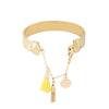 Simple and Subtle - This braclet is gold plated with chains hanging to make it look stunning.