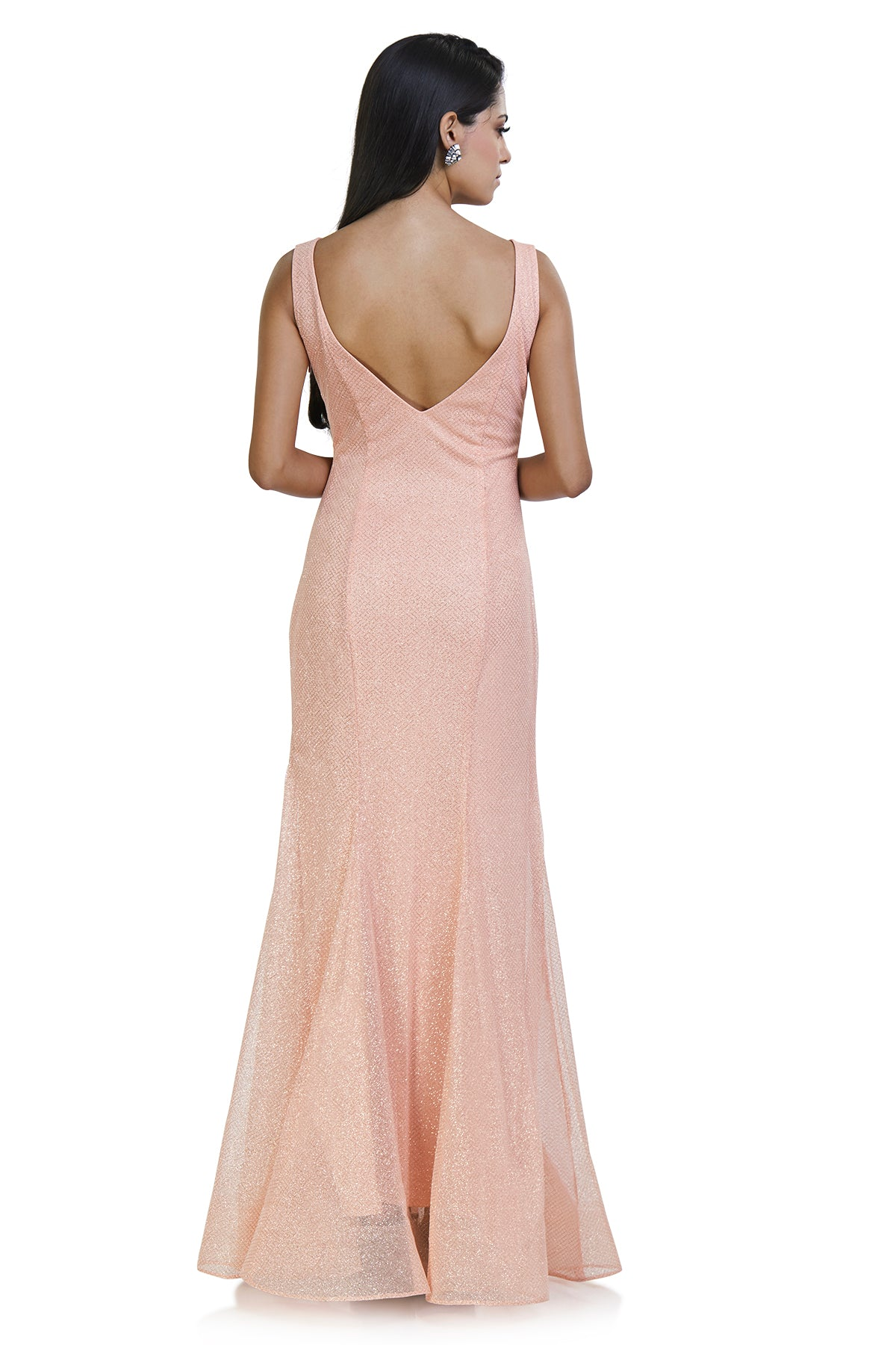 Baby pink shimmer gown