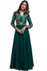The epitome of classic, this outfit checks all the right boxes in its rich bottle green full length anarkali gown with full sleeves and a silver/gold dori work body.