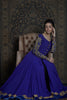 Violet Anarkali Jacket With Embroidered Sleeves