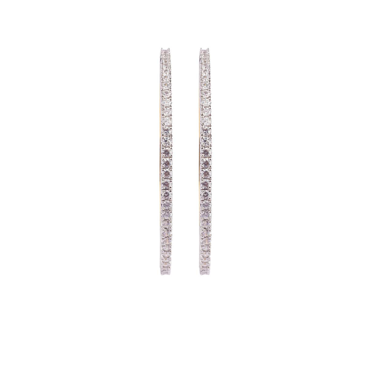 Single Lined Small Solitaire Bangle Pair