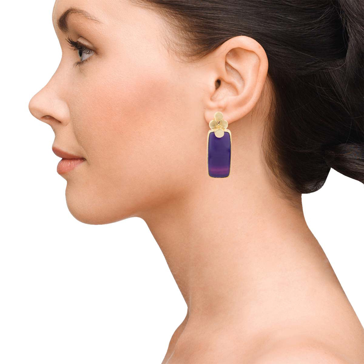 Four Dot Classic Purple Earrings
