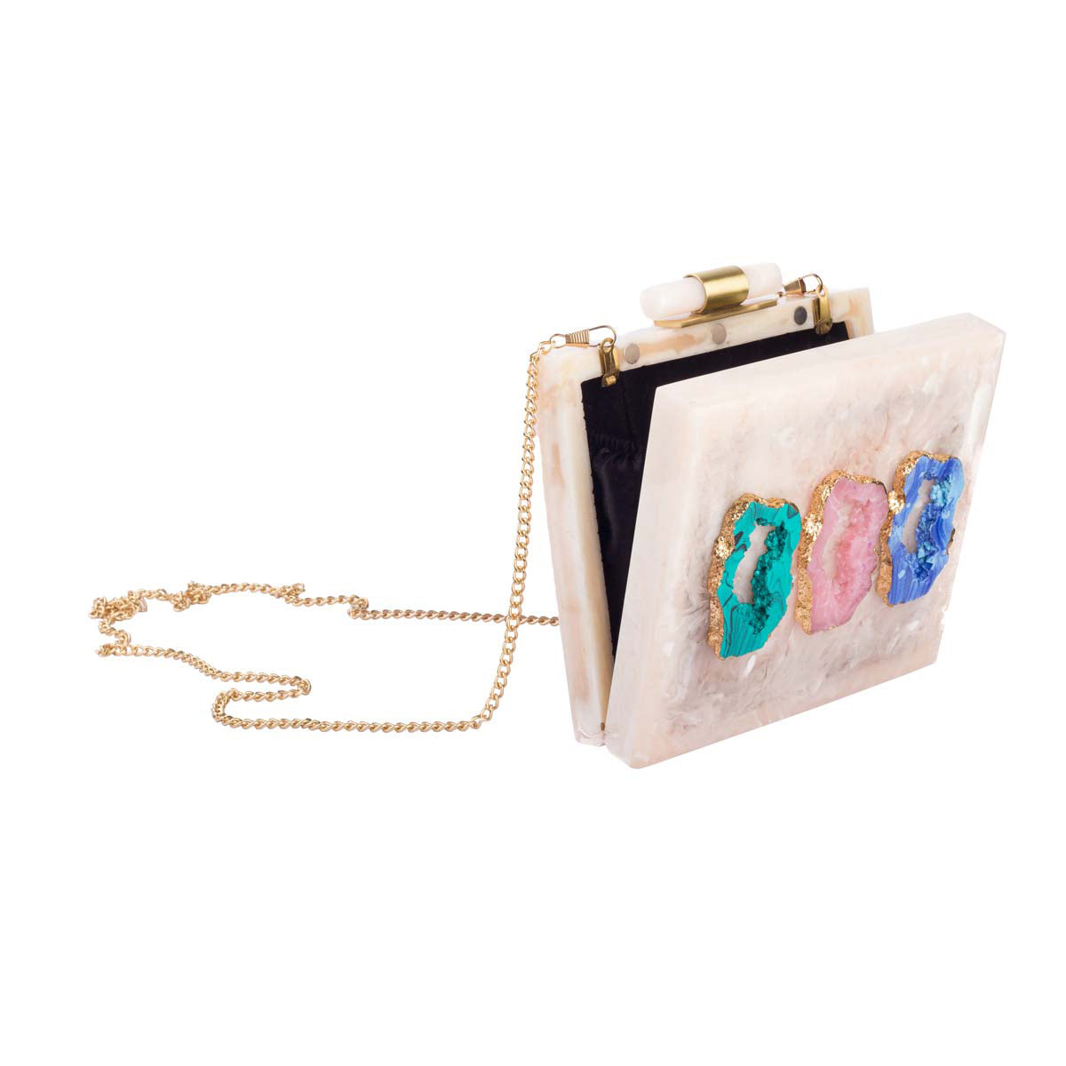 Pale Pink Moon Rock Clutch