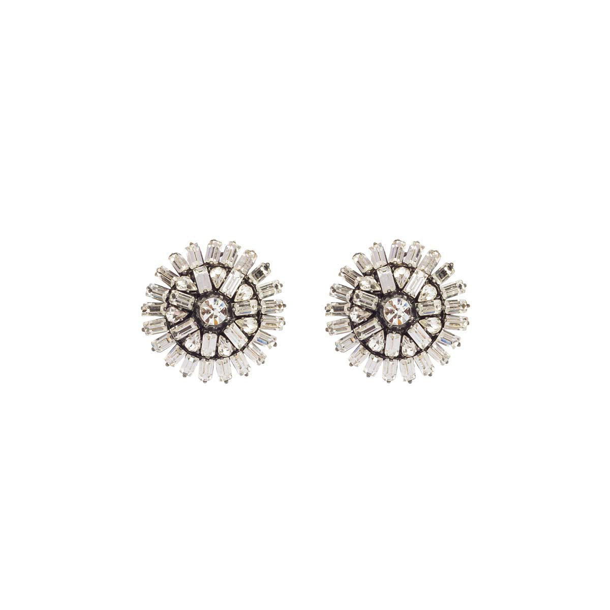 These earrings will be your ultimate rock when you need them the most! They are exquisite in their stone detailing with rhodium plating and luxurious Swarovski crystals.