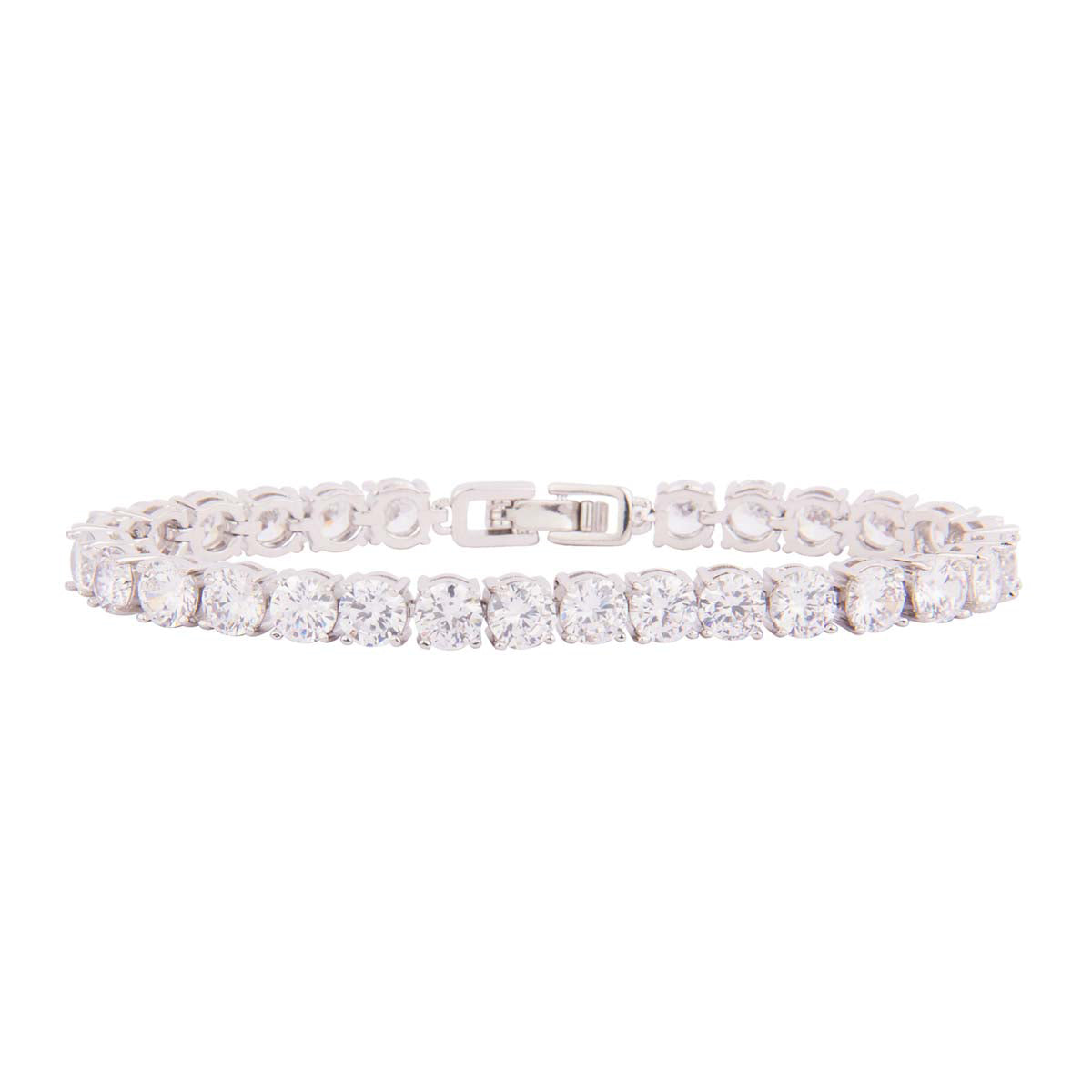 Single Lined Large Solitaire Bracelet