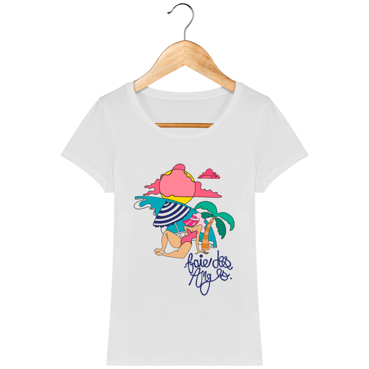 Tee Shirt Bio ♀ Le Style Jeje X Ficanas, Baie des Anges