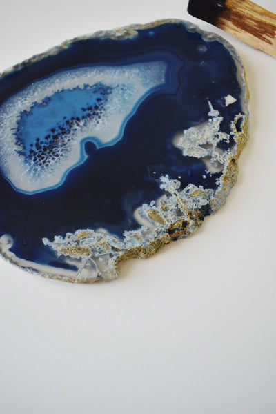 Blue Agate Coaster (large)