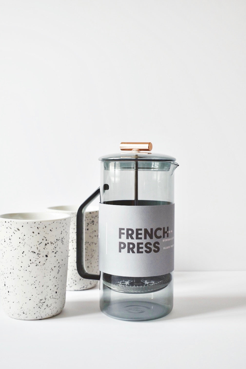 Grey Glass French Press 850 ML